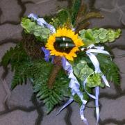 Eine sonnenblume als Ringkissen
